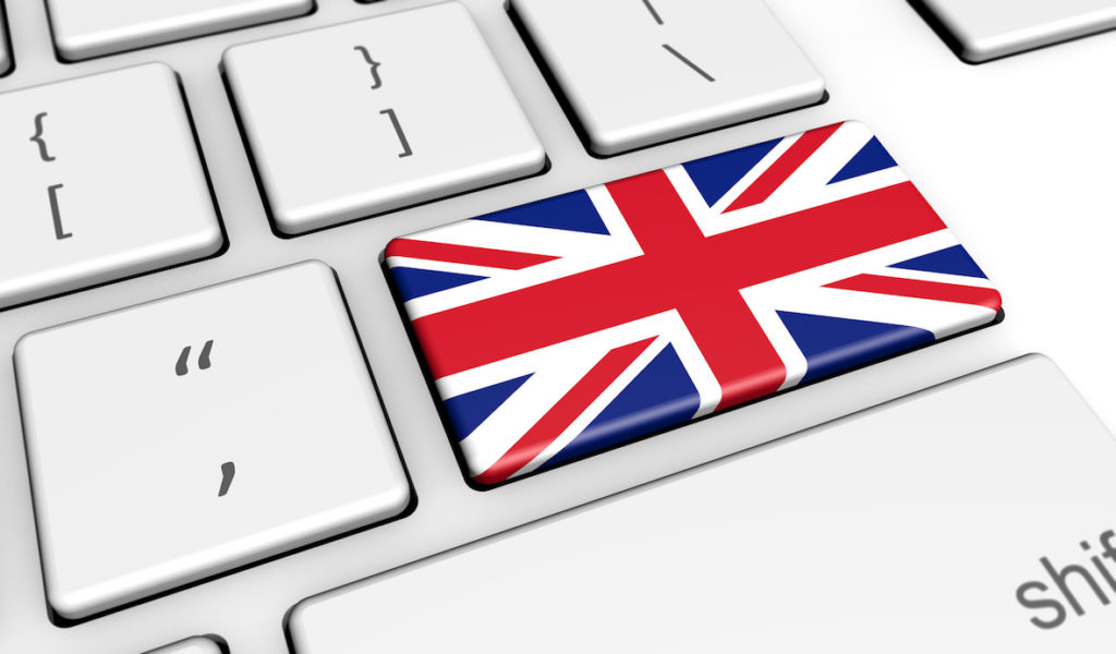 UK Flag Computer Keyboard
